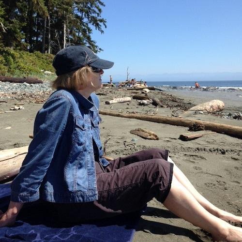 Lynda at China Beach