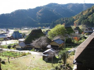 View of Kitamura Village from the shrine
