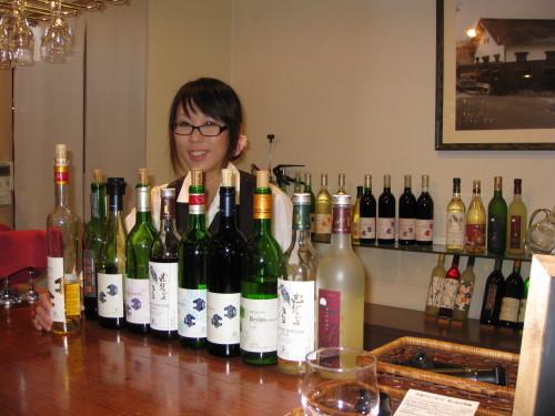 Tasting Tamba Winery's Wines