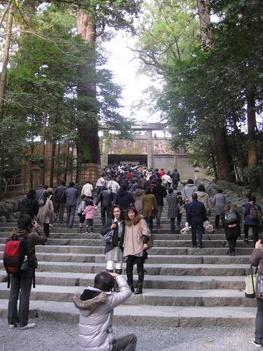 Approaching the Naiku (Inner Shrine)