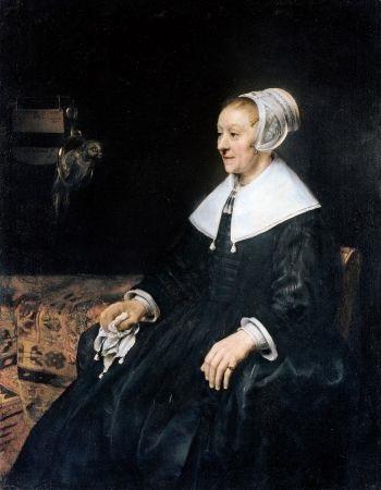 Rembrandt portrait of a Mennonite woman