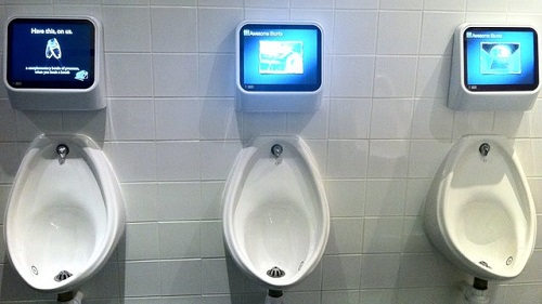 Game urinals in Japan. Photo Credit to Keypos.net