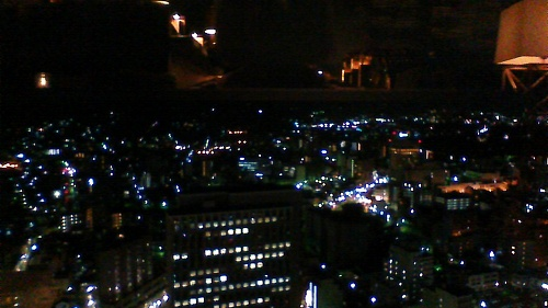 Night view from the Hotel Nikko Kanazawa