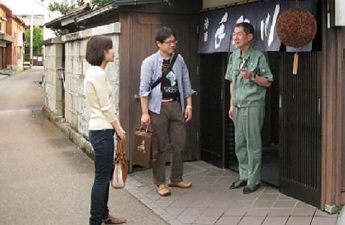 Kanako and Masahiro with Yoshida Ryuichi